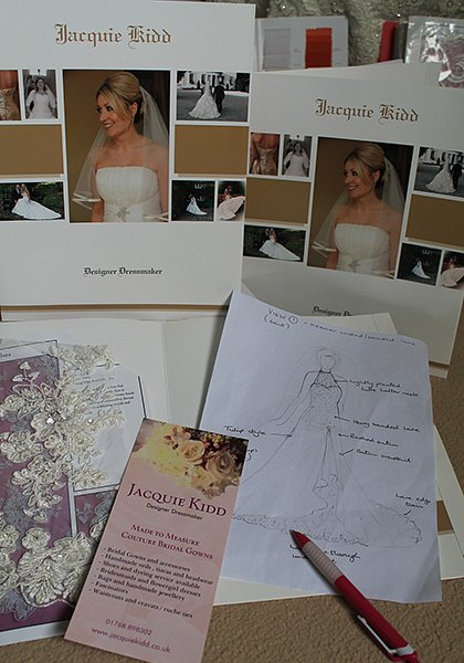 Bespoke wedding dress process