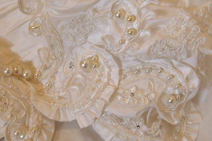 Bespoke detail wedding dress