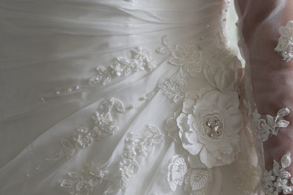 Wedding dress detail bespoke